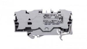 Złączka szynowa 3-przewodowa 6mm2 szara 2006-1301 TOPJOBS