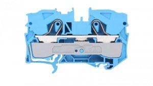 Złączka szynowa 2-przewodowa 10mm2 niebieska 2010-1204 TOPJOBS /25szt/
