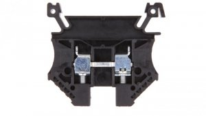 Złączka szynowa 2-przewodowa 4mm2 czarna EURO 43409BK