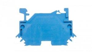 Złączka szynowa 2-przewodowa 4mm2 niebieska 281-604