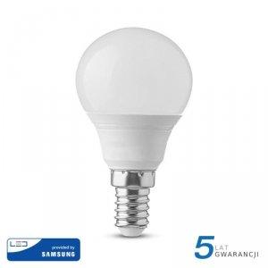 Żarówka LED V-TAC SAMSUNG CHIP 5.5W E14 P45 Kulka VT-236 6400K 470lm 5 Lat Gwarancji