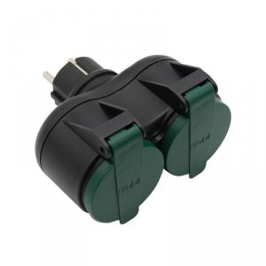 Adapter Ogrodowy V-TAC 2 Gniazda, IP44 Schuko VT-1102-2