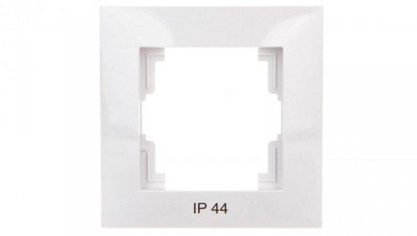 CARLA Ramka pojedyncza IP44 biała 1771-40