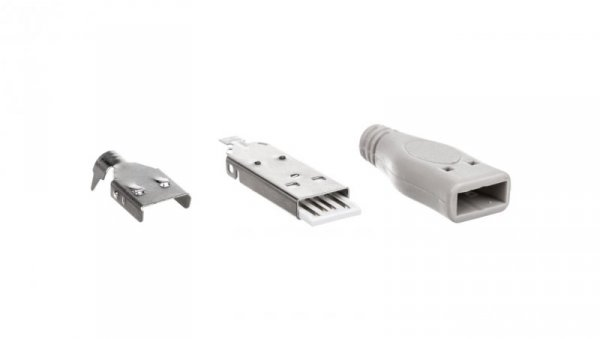 Wtyczka naprawcza USB-A /do zlutowania/ 12025