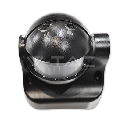 Czujnik Ruchu 180st Podczerwień Czarny V-TAC VT-8003