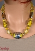 YELLO żółte, krótkie korale przeźroczyste, z kryształkami