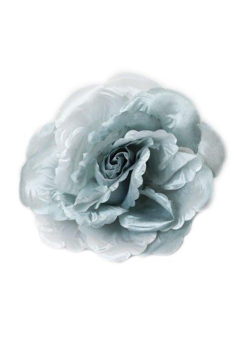 BR020 duża broszka - jasnoszary kwiat, również jako gumka do włosów