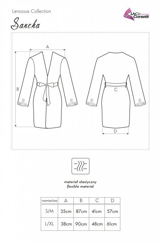 Sancha koszulka i szlafrok - L/XL