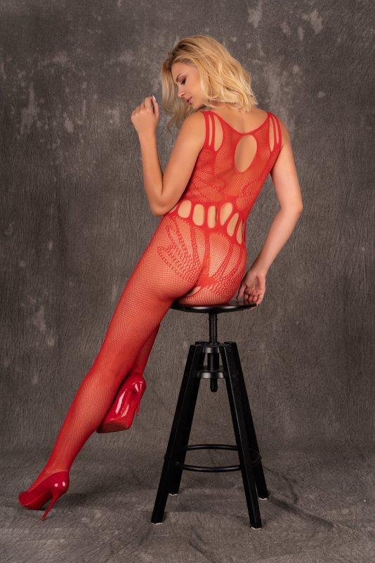 Amahil Red czerwone bodystocking rozmiar - S/L