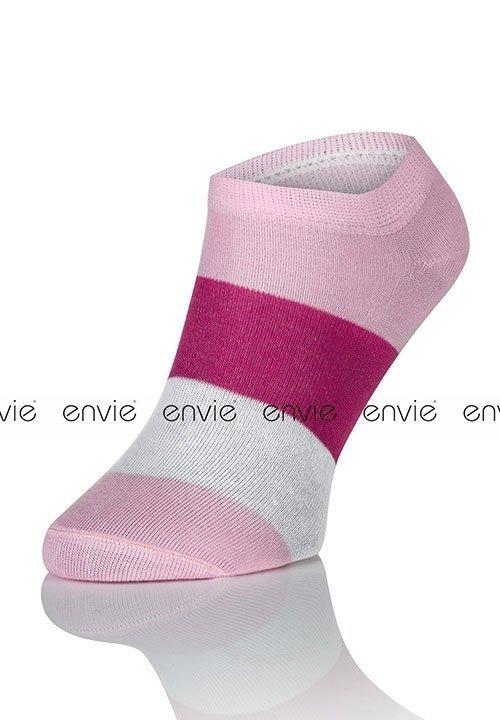ENVIE MULTI DF02 PINK różowe stopki - zakostki z bawełną