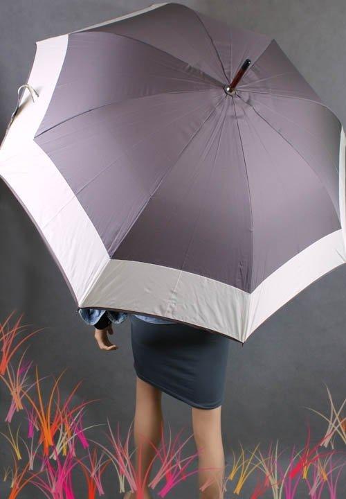 Parasolka damska duża w dwa kolory czarna, szara, oliwkowa, lilowa, morska, zielona, granatowa