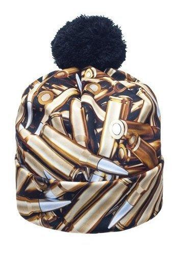 BULLETS czapka z pomponem i nadrukiem 3D - naboje