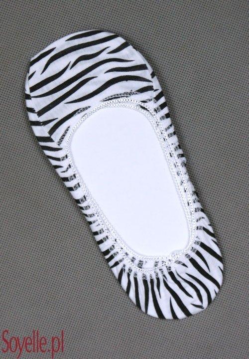 CF 12 stopki w zwierzęce wzory, biało-czarna zeberka poprzeczny wzór