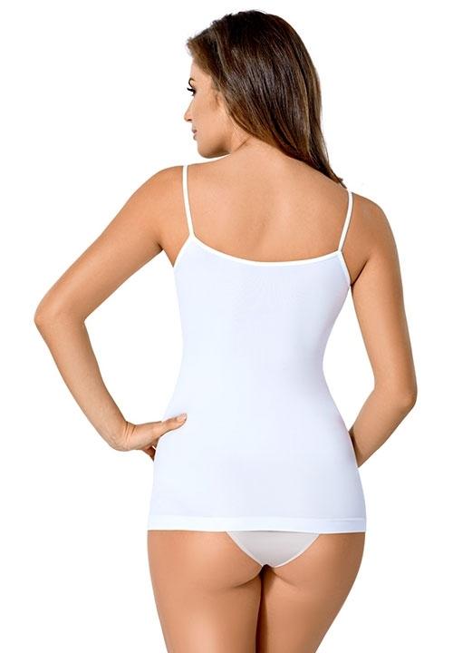 ENVIE W/R koszulka bezszwowa z mikrofibry, wąskie ramiączka, beżowa, biała, czarna