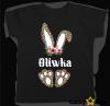 Koszulka Zajączek panterka + wybrane imię