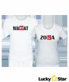 Koszulki dla par Wariat & Zołza ( twój napis)