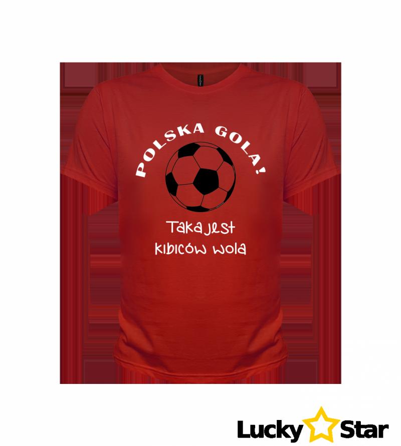 Koszulka Męska POLSKA GOLA taka jest kibiców wola!