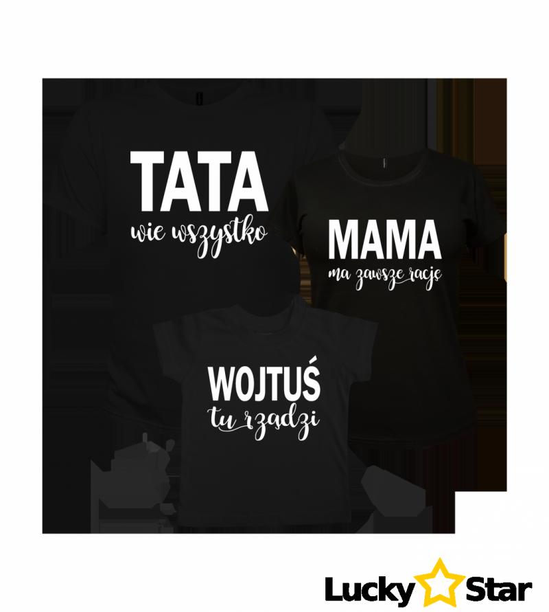 Koszulki Tata/Mama/Wybrane imię dziecka