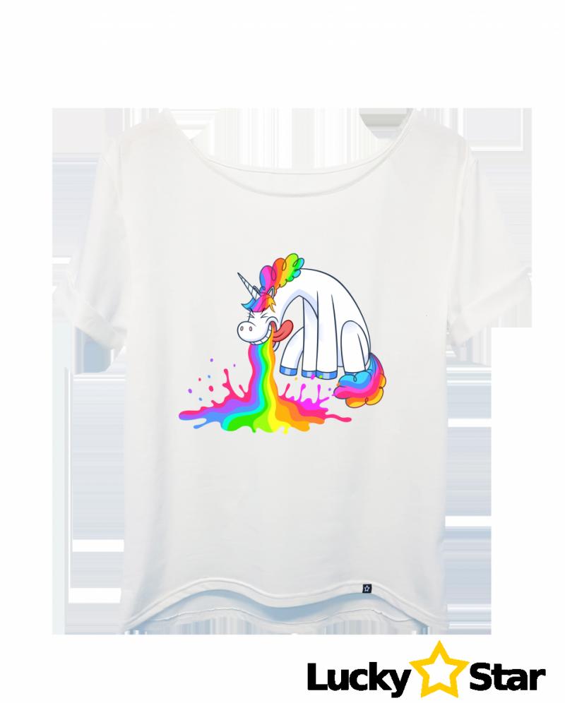Koszulka Damska Jednorożec tęcza