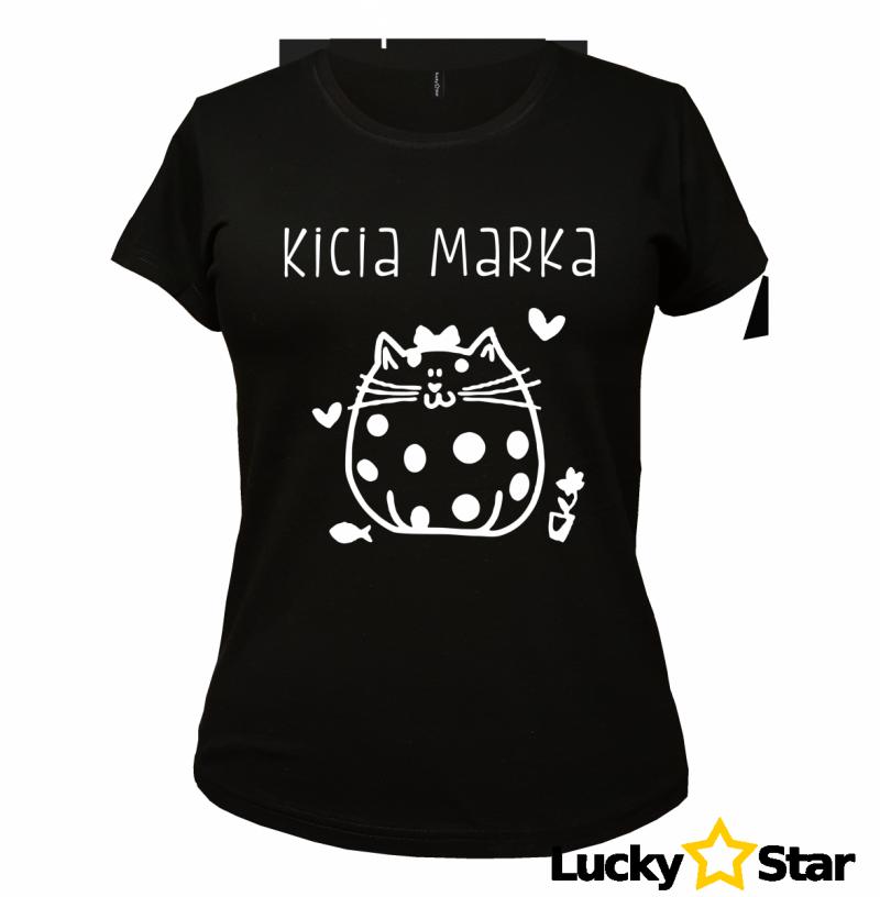 Zestaw koszulek dla par KICIA, KOTEK z Twoim imieniem