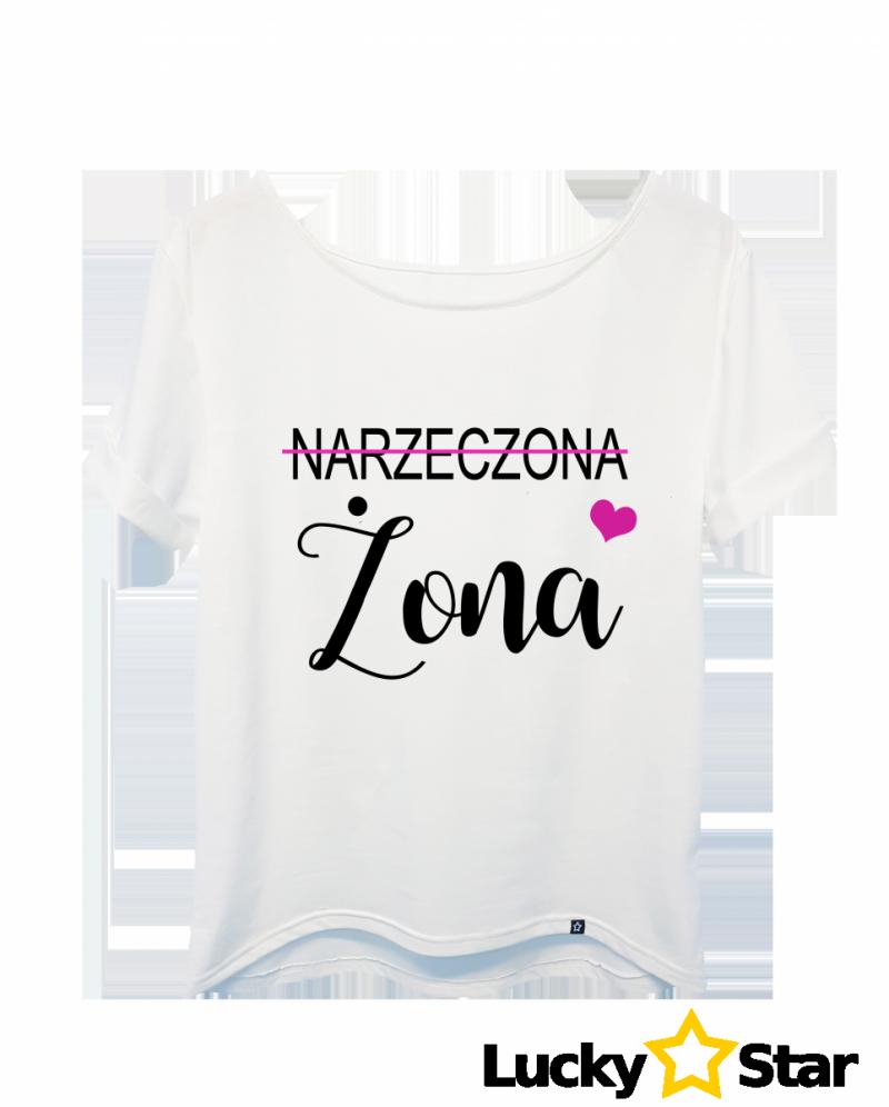 Koszulka Damska Narzeczona ŻONA