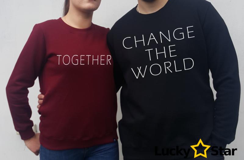 Bluzy dla Par Change the world TOGETHER