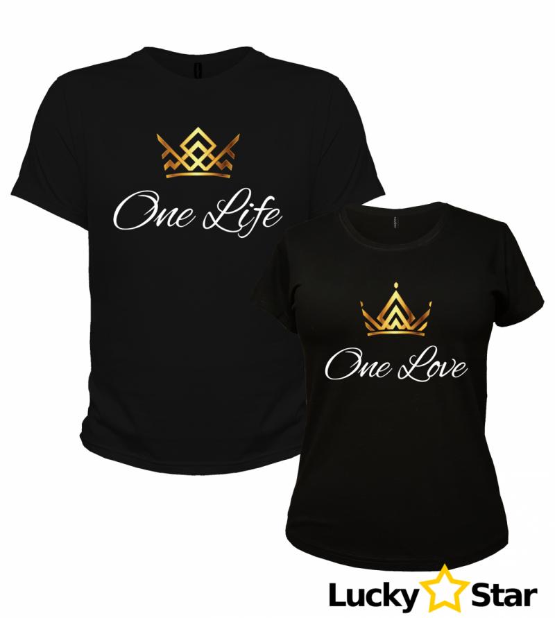 7564 Koszulki dla par One Life - One Love