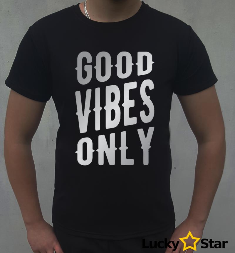 Koszulka Męska Good vibes only
