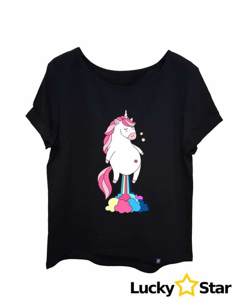 Koszulka Damska Jednorożec chmurka