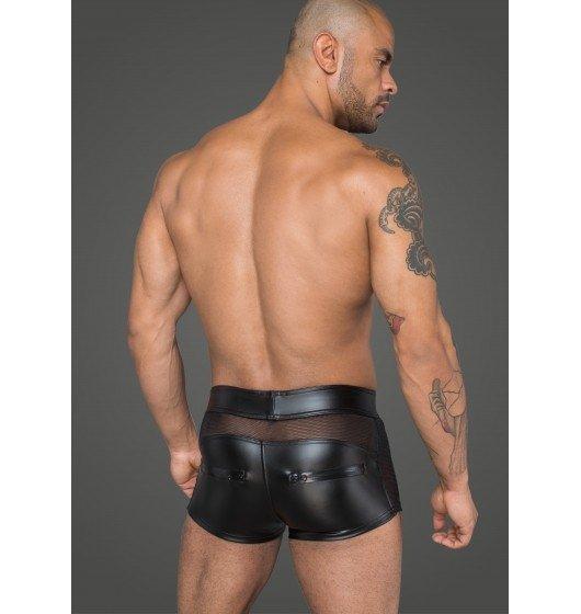 Erotyczne bokserki lateksowe z wstawkami z siateczki XL
