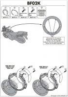 Kappa BF02K Pierścień mocujący Aprilia/Triumph