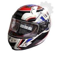 Kask Ispido RACE SV UK biały/czerwony/czarny/niebieski