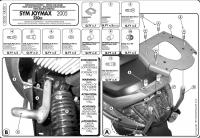GIVI SR230 Stelaż centralny SYM JOYMAX 250 '05-08/ JOYMAX EVO