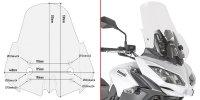 GIVI D4122ST SZYBA PRZEZROCZYSTA 53 x 44 cm KAWASAKI Versys 650