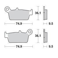 KLOCKI HAMULCOWE KH131 METALICZNE: 21 HONDA: TYŁ CR80/85, CR125/250/500 <2001, XR250/400/600/650, KAWASAKI: TYŁ KX12 MOTO-MAS