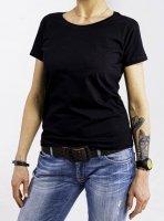 DAVCA T-shirt codzienny damski black