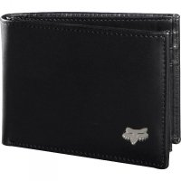 PORTFEL FOX BIFOLD LEATHER BLACK