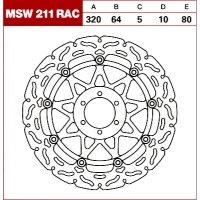 TRW Tarcza hamulcowa MSW211RAC MOTO KTM DUCATI BMW