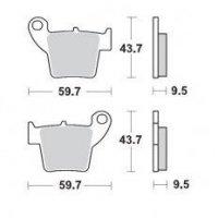 KLOCKI HAMULCOWE KH346 METALICZNE: 12 CR 125-250, CRF 450 MOTO-MASTER M094312