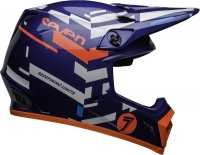 BELL KASK OFF-ROAD MX-9 SEVEN EQUALIZER BLUE/P/WHI