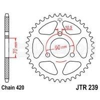 Zębatka tylna stalowa JT 239-42, 42Z, rozmiar 420 2300360 Honda MTX 50