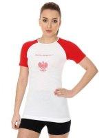 Brubeck SS12110 Koszulka damska 3D Husar PRO z krótkim rękawem biały/czerwony