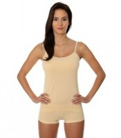 BRUBECK CAMISOLE COMFORT COTTON damska beżowy