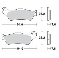 KLOCKI HAMULCOWE KH181 METALICZNE MOTO-MASTER M093011
