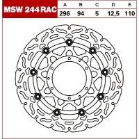 TRW Tarcza hamulcowa MSW244RAC HYOSUNG GV 650 Aqui