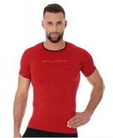Brubeck SS11920 Koszulka męska 3D Run PRO z krótkim rękawem czerwony