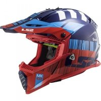 KASK LS2 MX437 FAST EVO XCODE RED BLUE