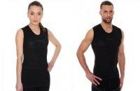 Brubeck SL10100 Koszulka unisex typu base layer bez rękawów grafitowy