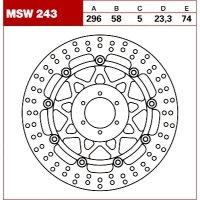 TRW Tarcza hamulcowa MSW243 HONDA CB 600 F S F2 Ho