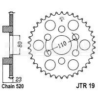 Zębatka tylna stalowa JT 19-38, 38Z, rozmiar 520 2301173 Aprilia AF1 125